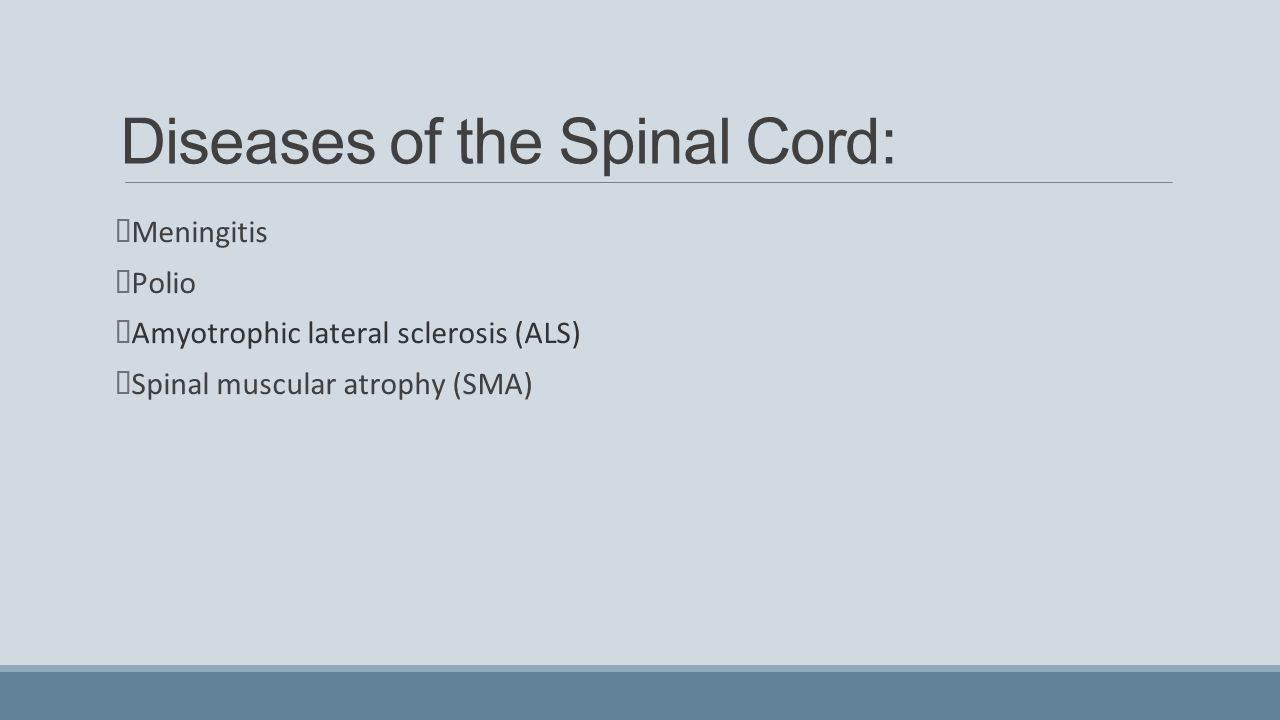 Diseases of the Spinal Cord: