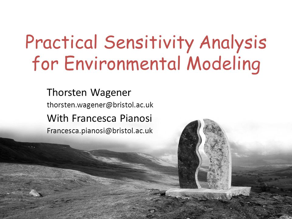 Practical Sensitivity Analysis for Environmental Modeling