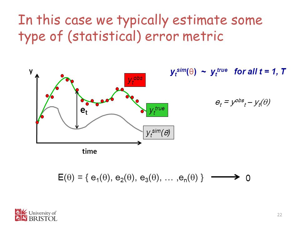 In this case we typically estimate some type of (statistical) error metric