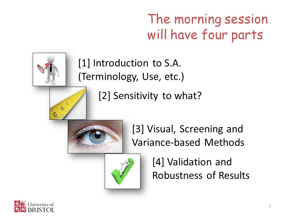 The morning session will have four parts