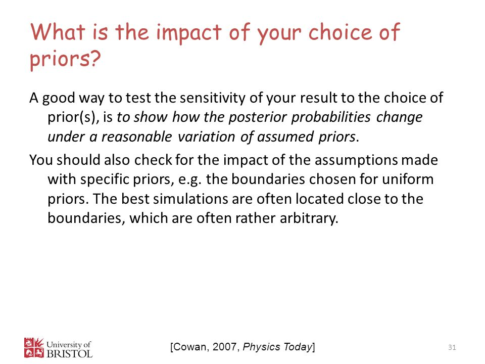What is the impact of your choice of priors