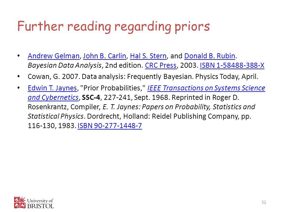 Further reading regarding priors