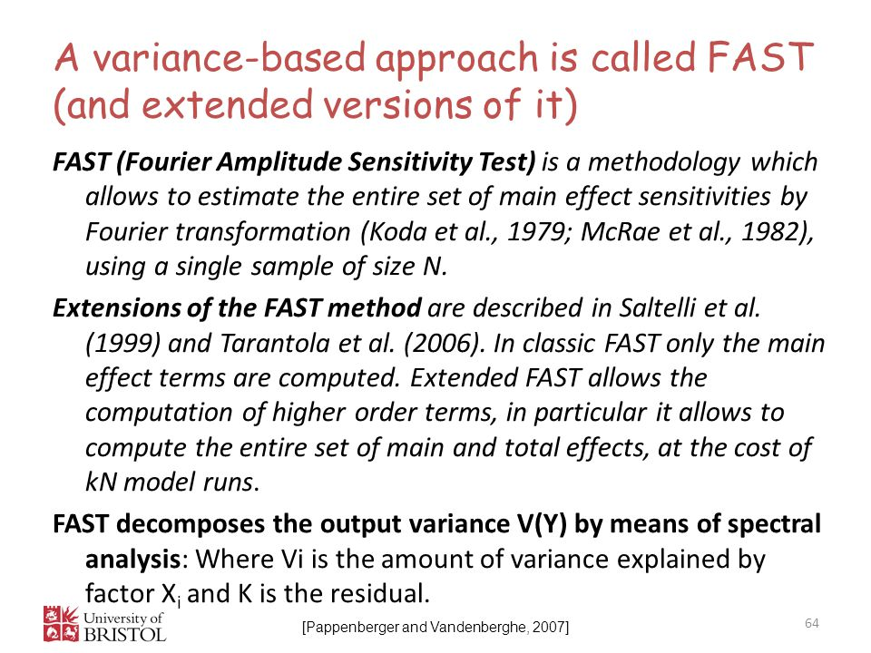 A variance-based approach is called FAST (and extended versions of it)