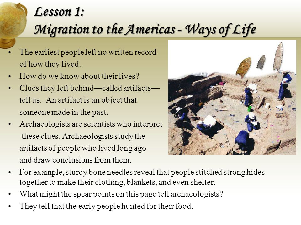 Lesson 1: Migration to the Americas - Ways of Life
