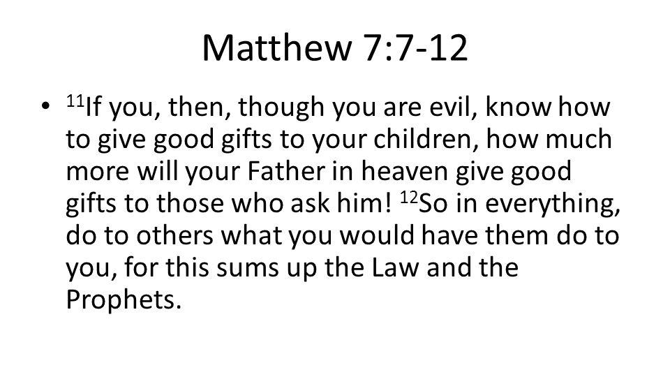 Matthew 7:7-12