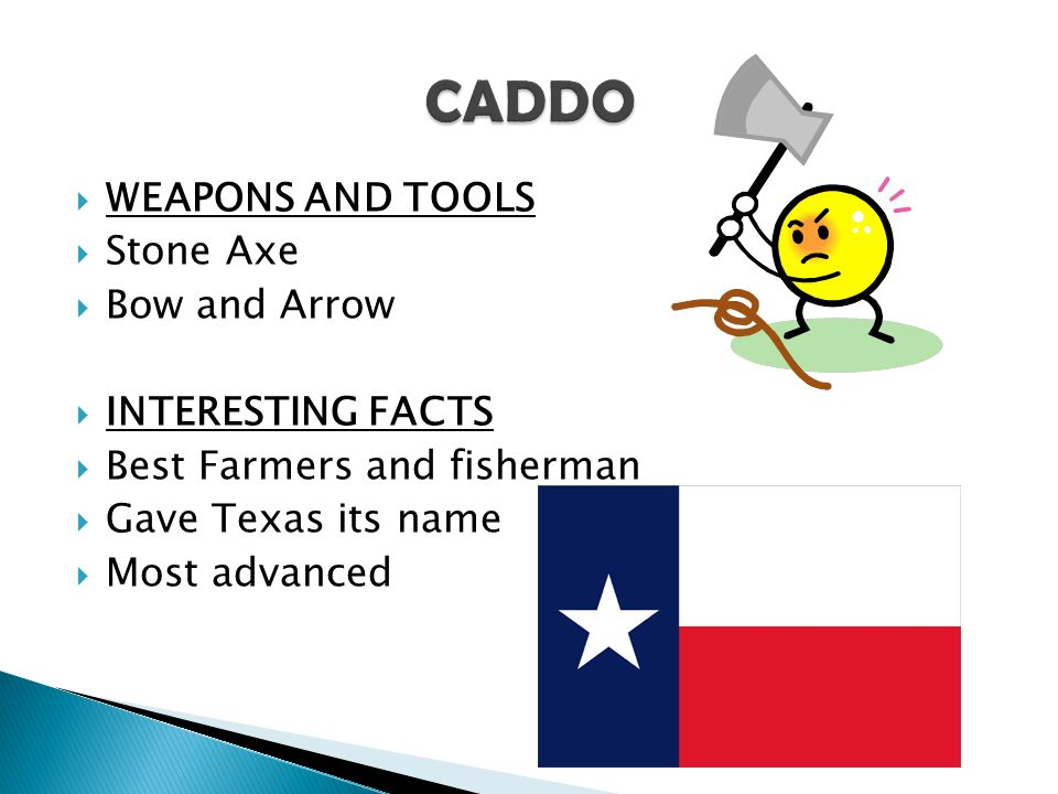 CADDO WEAPONS AND TOOLS Stone Axe Bow and Arrow INTERESTING FACTS