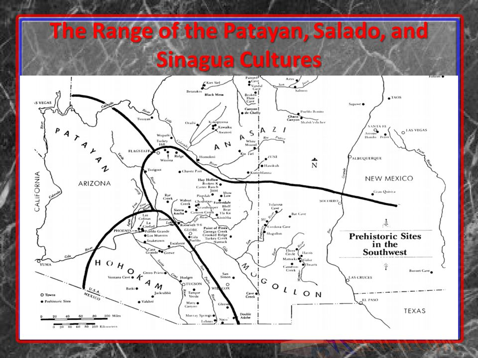 The Range of the Patayan, Salado, and Sinagua Cultures