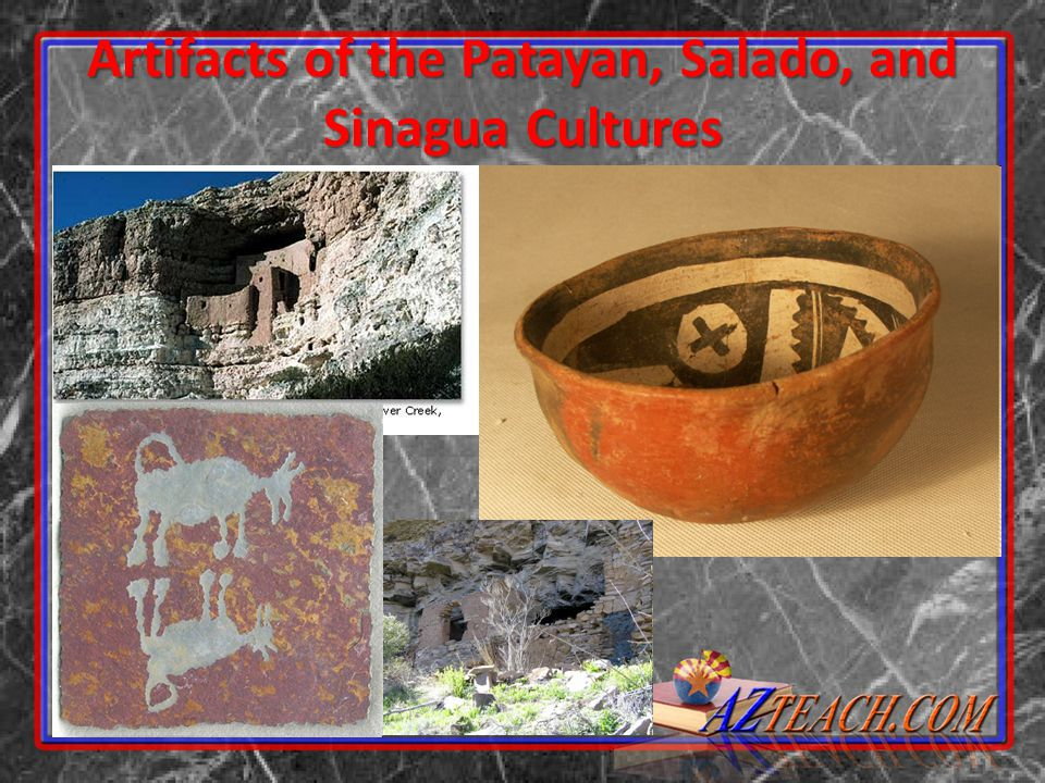 Artifacts of the Patayan, Salado, and Sinagua Cultures