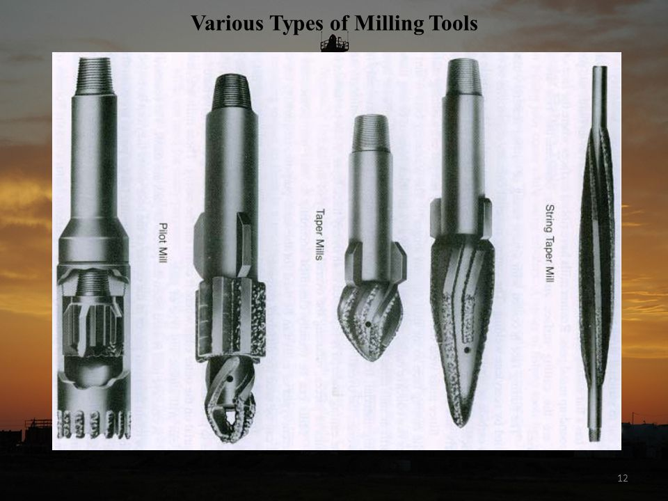 Various Types of Milling Tools