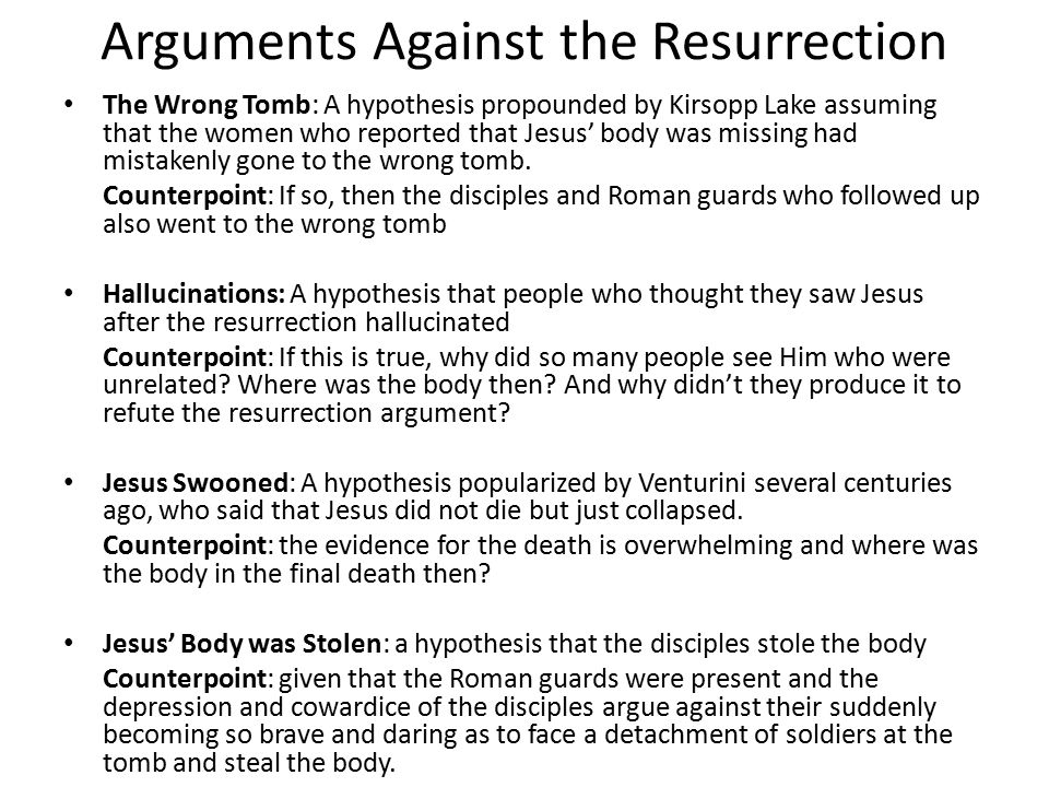 The Of Christ Against Evidence Resurrection