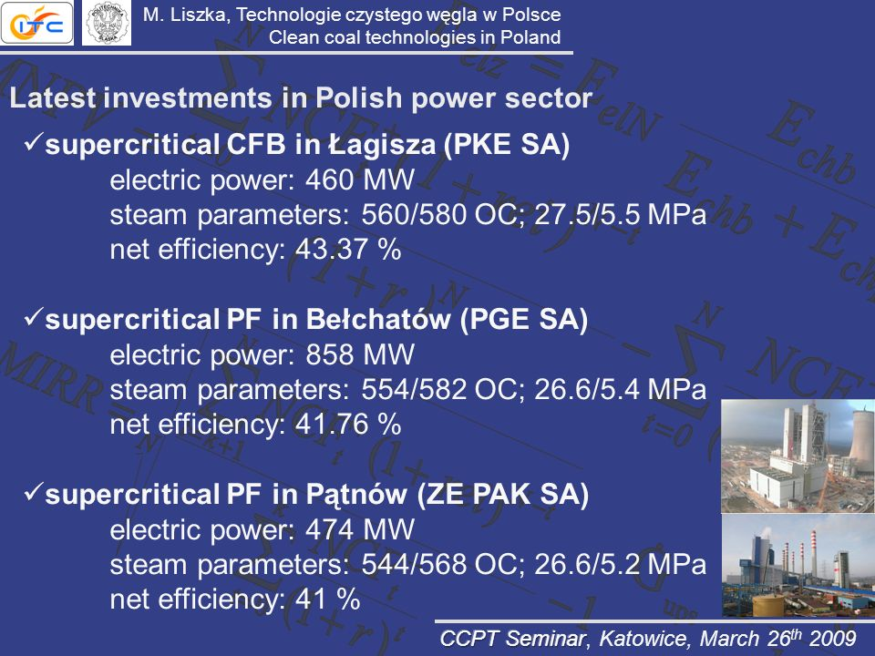 Latest investments in Polish power sector