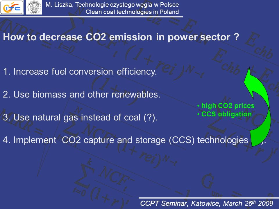 How to decrease CO2 emission in power sector