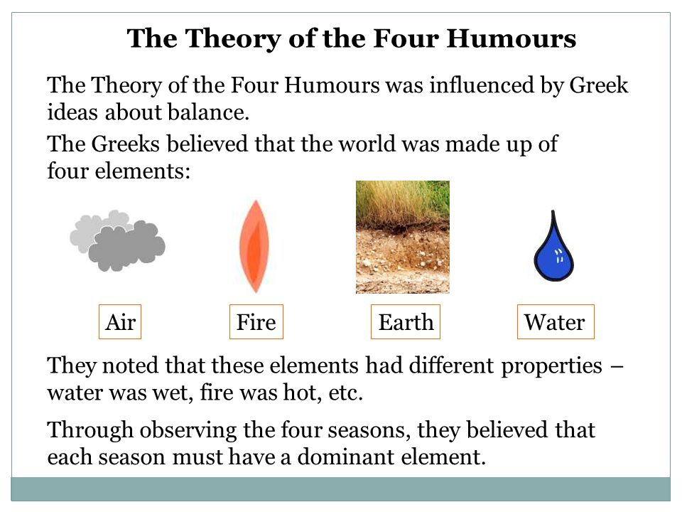 The Theory of the Four Humours
