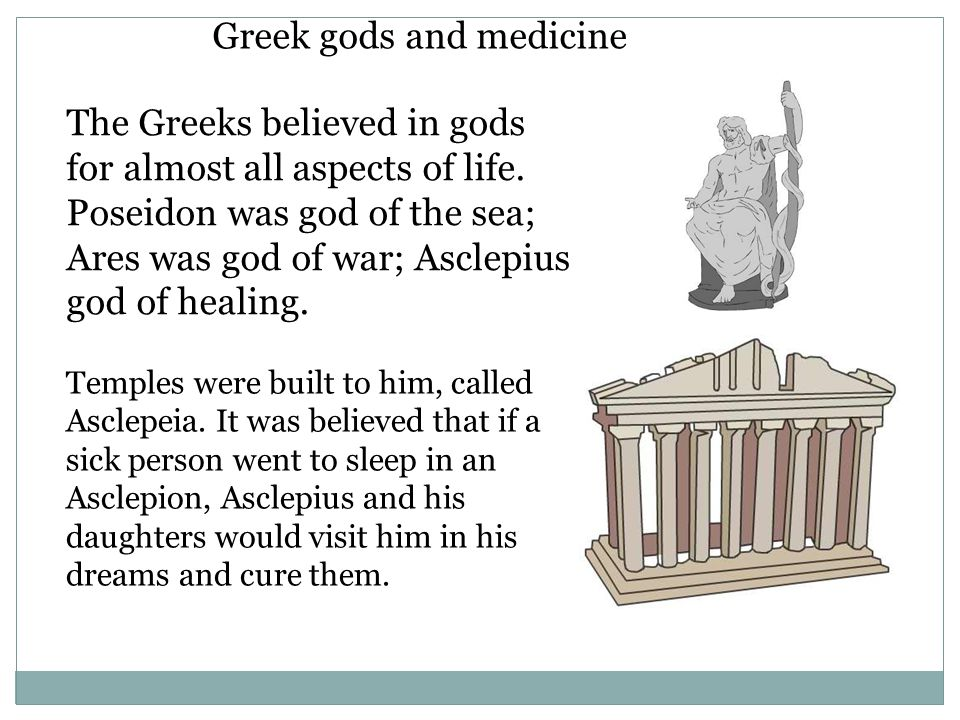 Greek gods and medicine