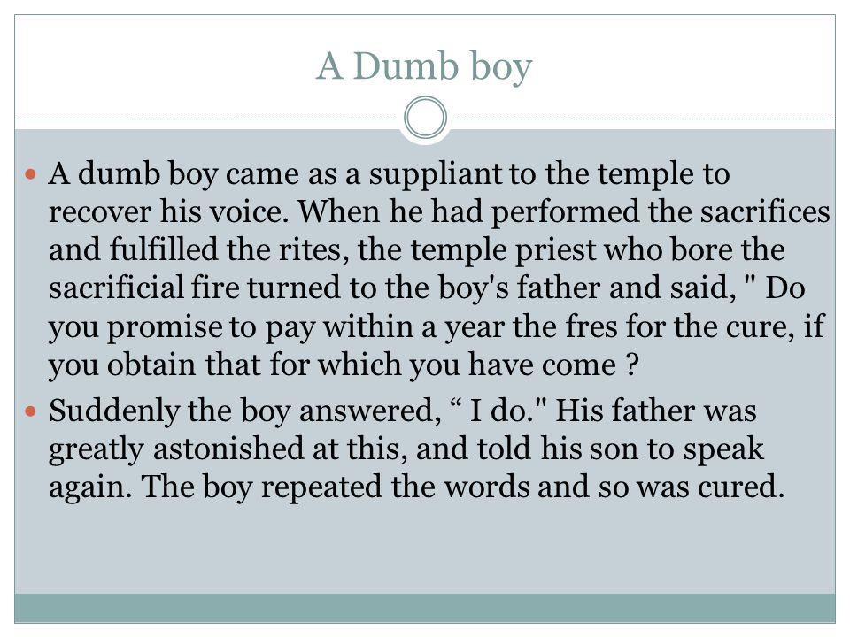 A Dumb boy