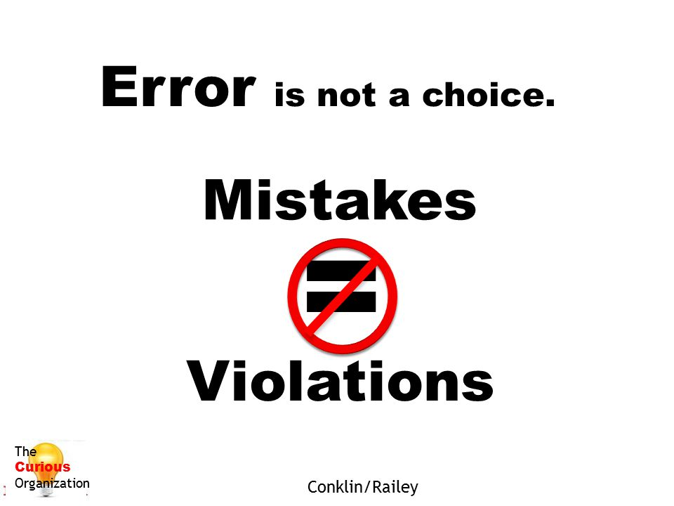 = Error is not a choice. Mistakes Violations Conklin/Railey The