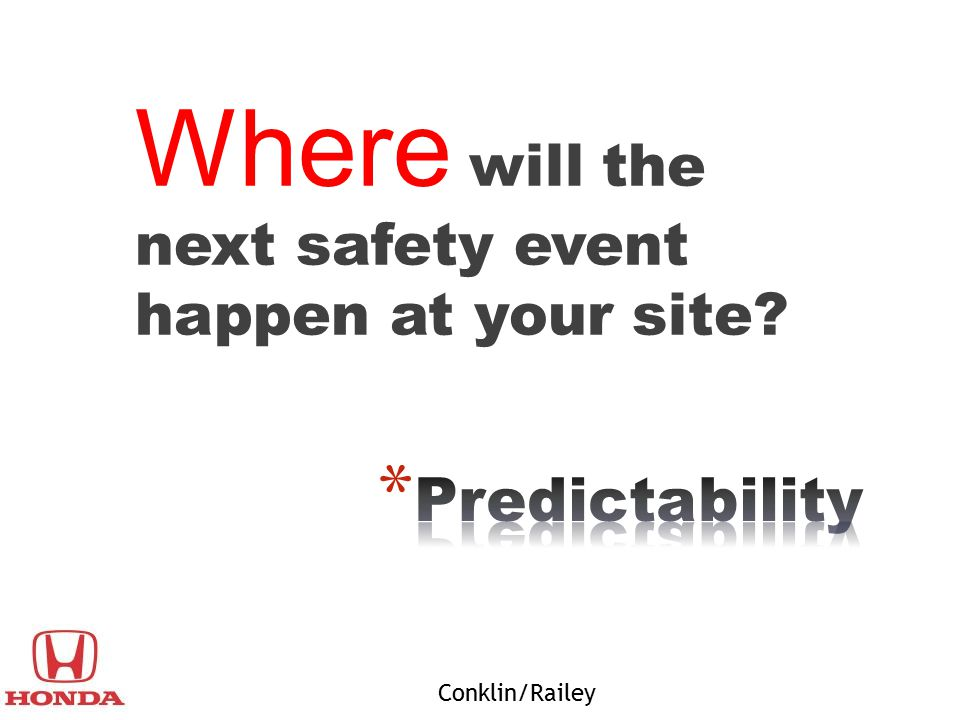 Where will the next safety event happen at your site