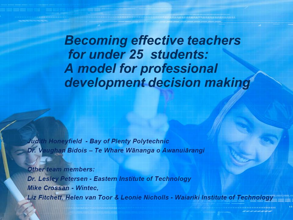 Becoming effective teachers for under 25 students: A model for professional development decision making