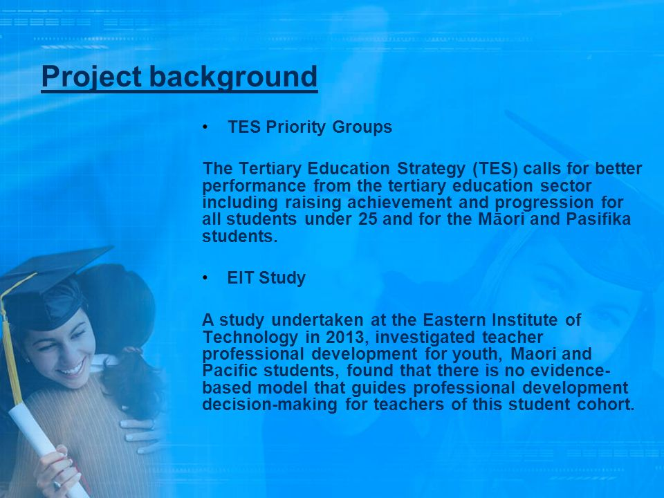 Project background TES Priority Groups