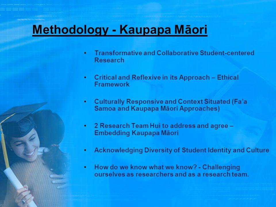 Methodology - Kaupapa Māori