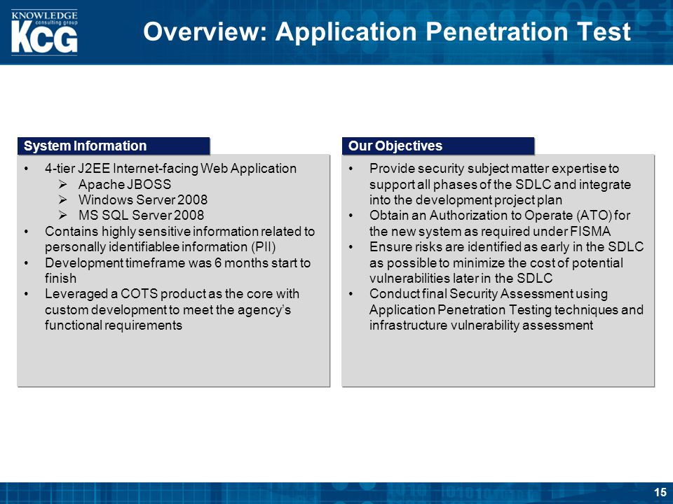 Overview: Application Penetration Test