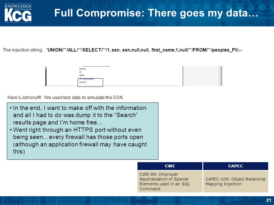Full Compromise: There goes my data…