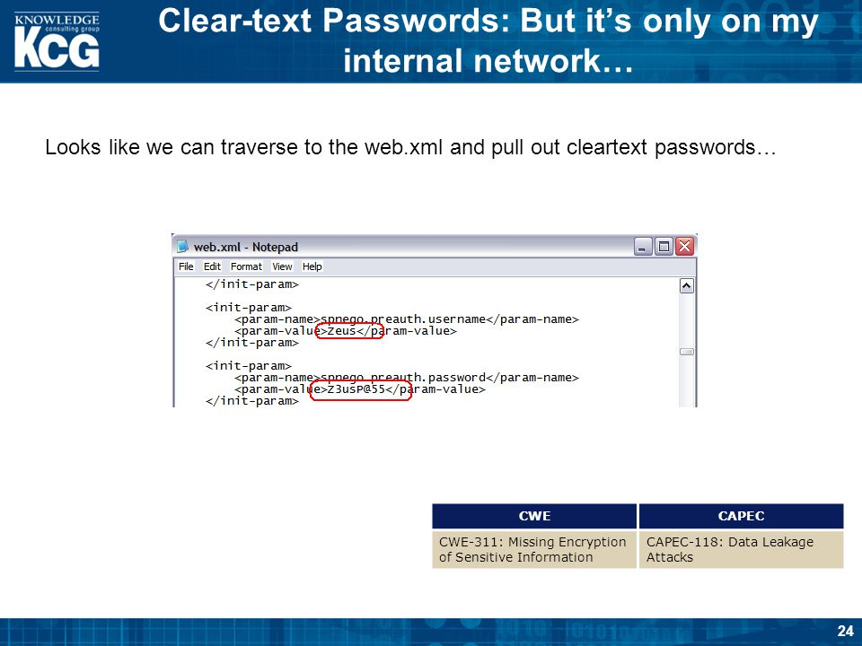 Clear-text Passwords: But it's only on my internal network…