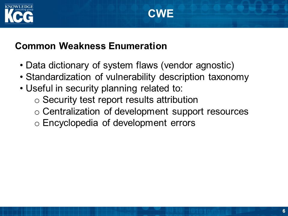 CWE Common Weakness Enumeration