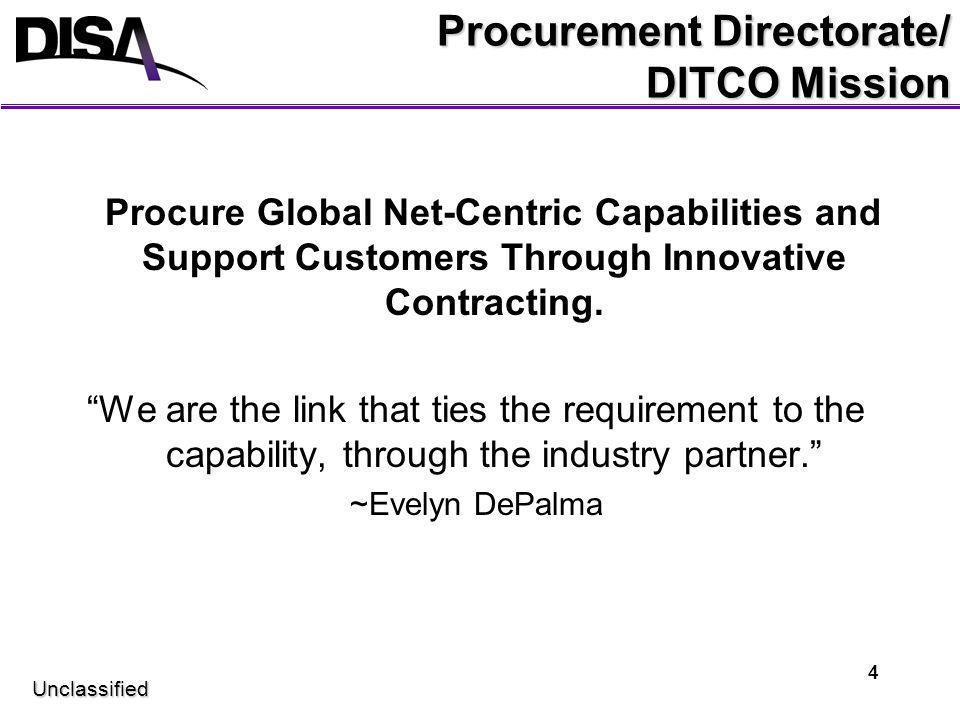 Procurement Directorate/ DITCO Mission