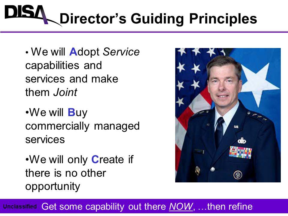 Director's Guiding Principles