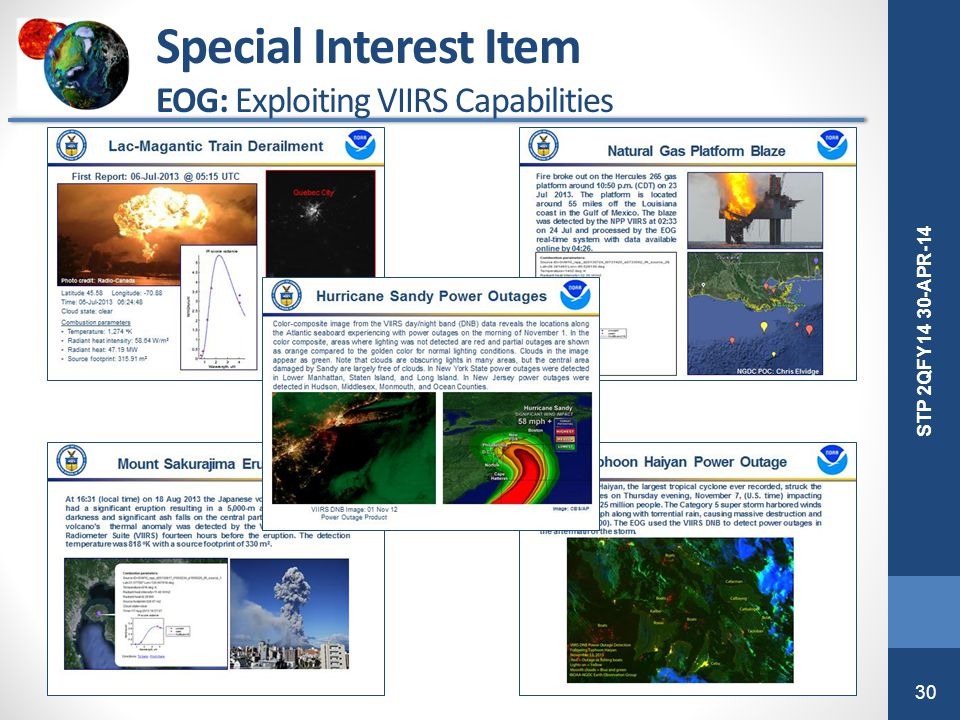Special Interest Item EOG: Exploiting VIIRS Capabilities