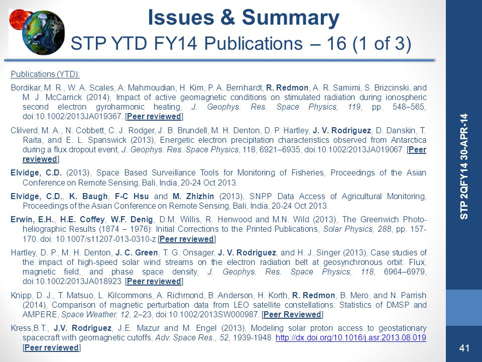 STP YTD FY14 Publications – 16 (1 of 3)