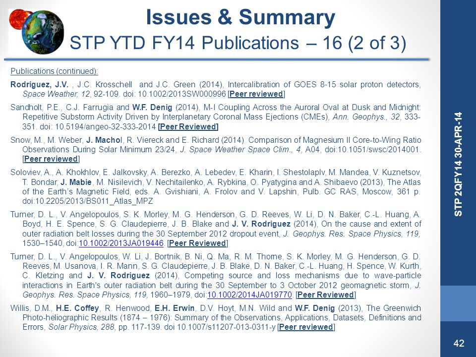 STP YTD FY14 Publications – 16 (2 of 3)