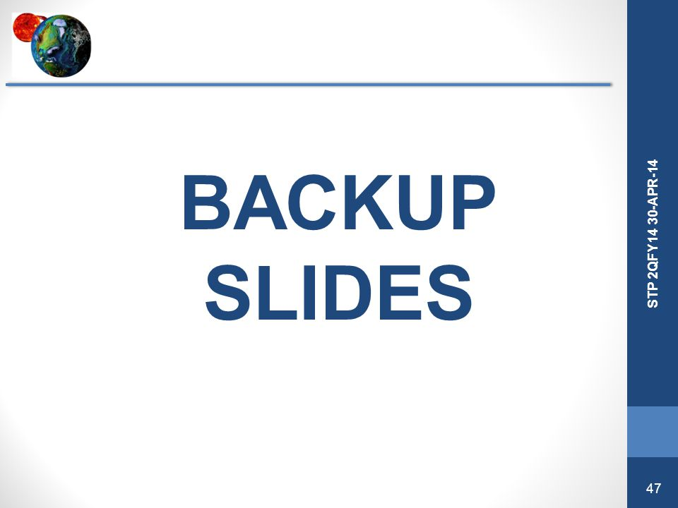 BACKUP SLIDES STP Division 4QFY13 Review