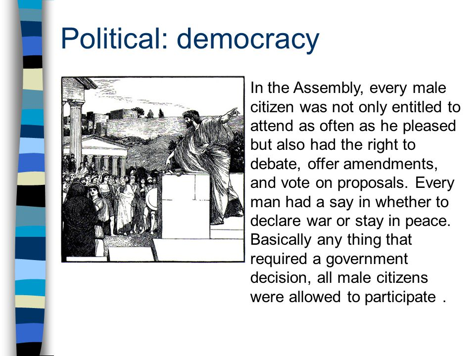 Political: democracy