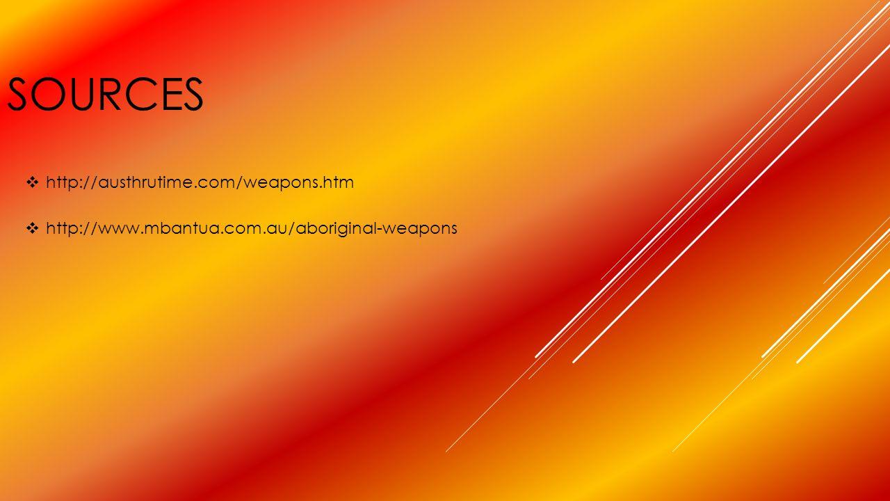 sources http://austhrutime.com/weapons.htm