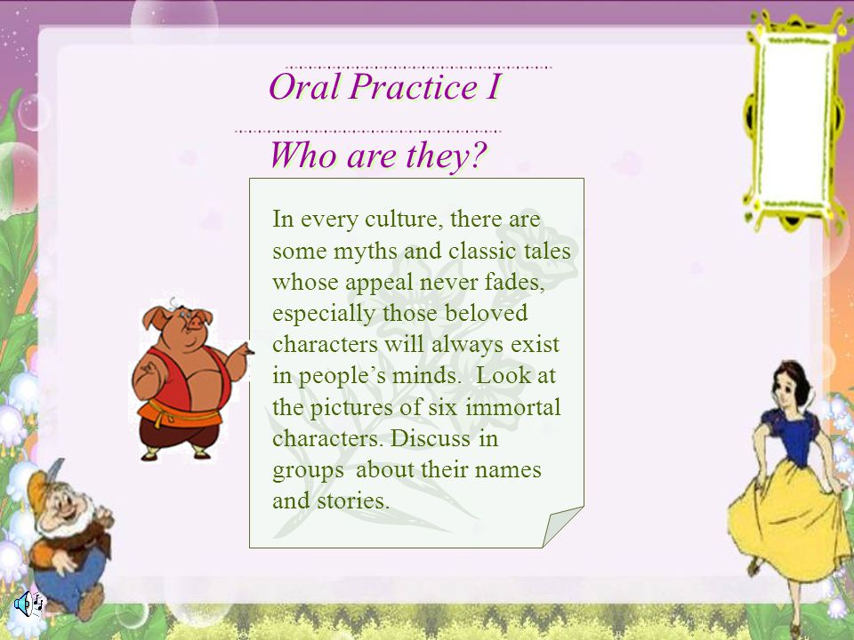 Oral Practice I Who are they