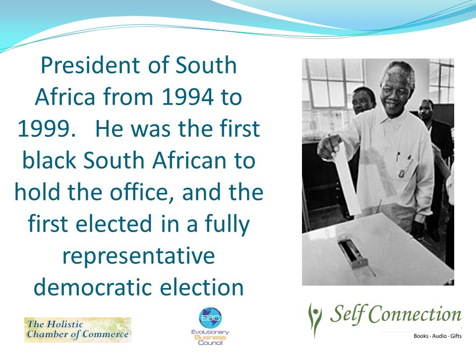 President of South Africa from 1994 to 1999