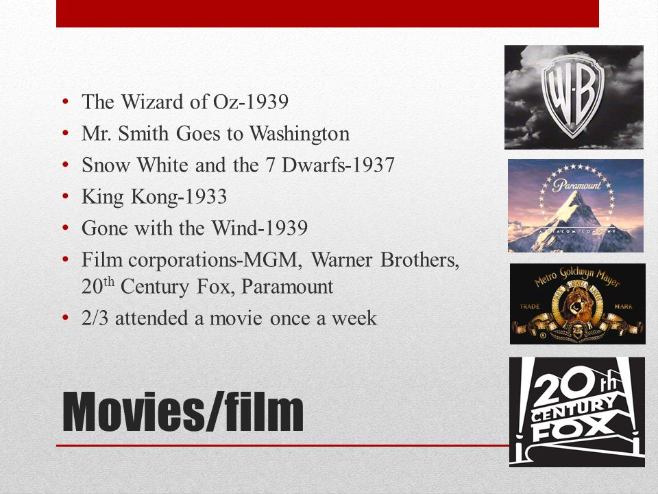 Movies/film The Wizard of Oz-1939 Mr. Smith Goes to Washington