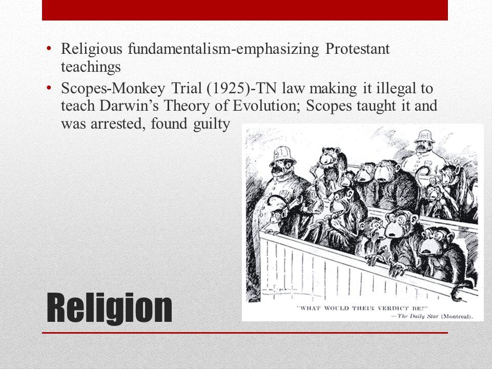 Religion Religious fundamentalism-emphasizing Protestant teachings