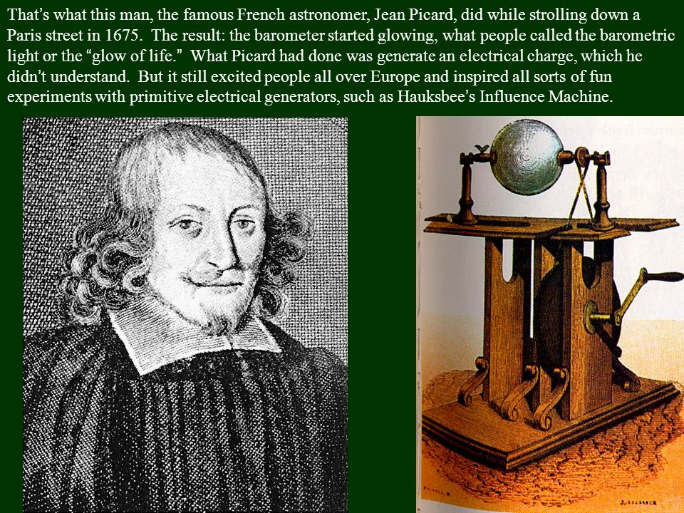 That's what this man, the famous French astronomer, Jean Picard, did while strolling down a Paris street in 1675.