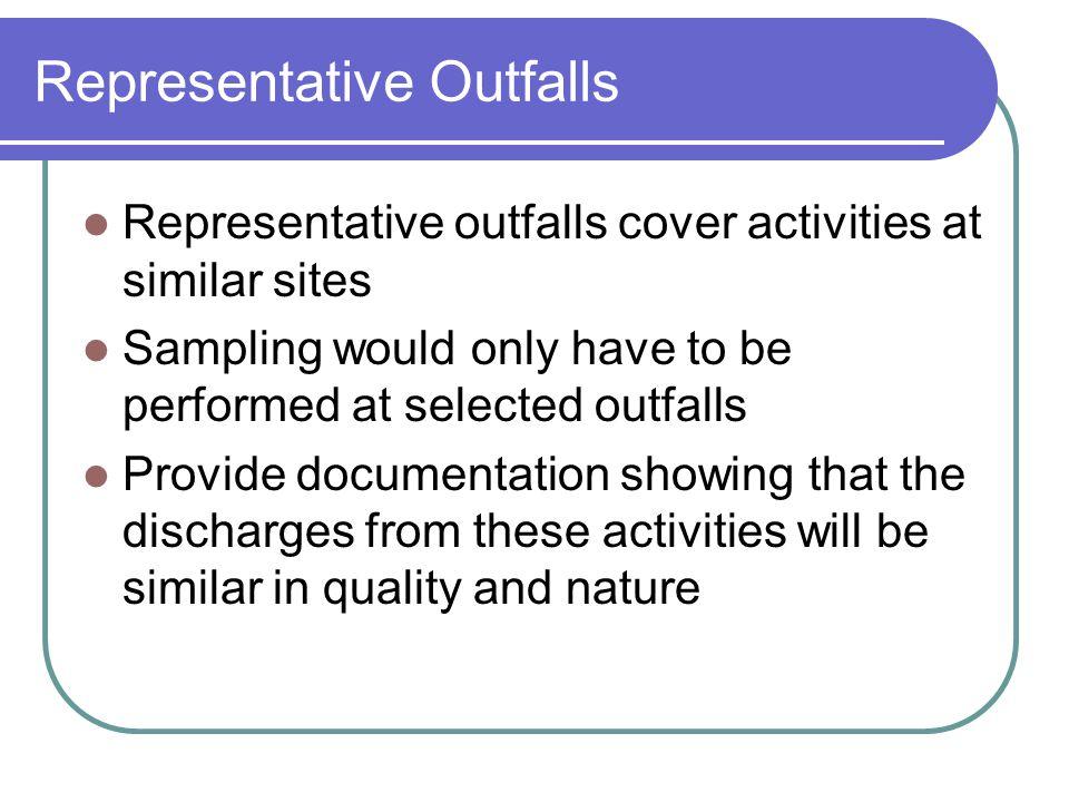 Representative Outfalls