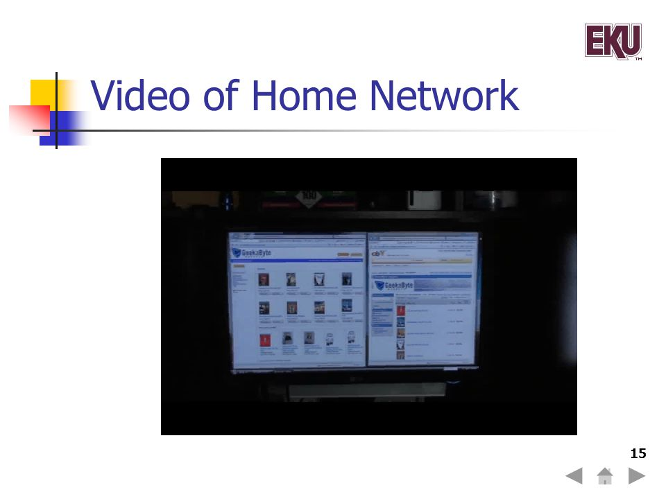 Video of Home Network