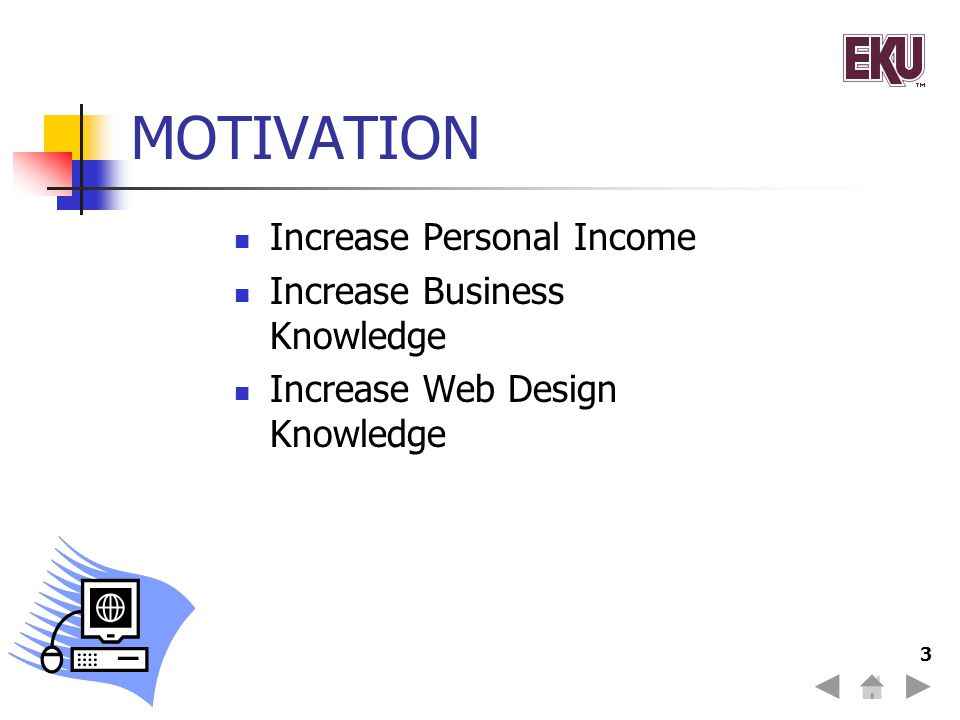 MOTIVATION Increase Personal Income Increase Business Knowledge