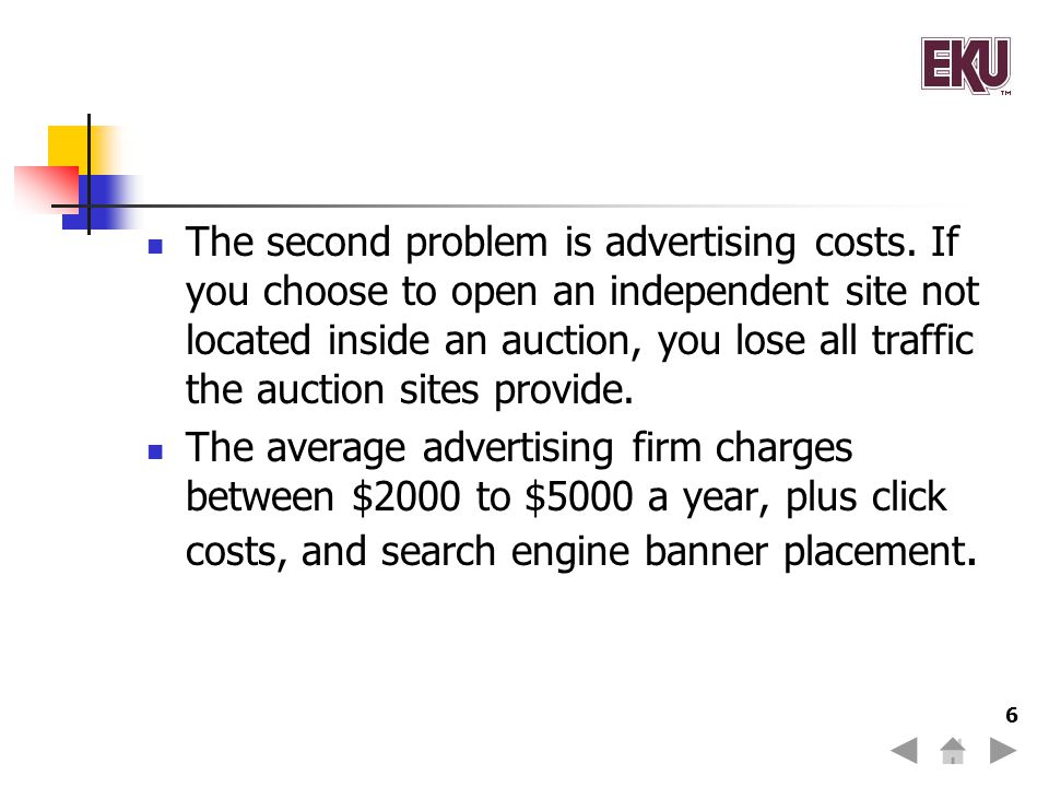 The second problem is advertising costs