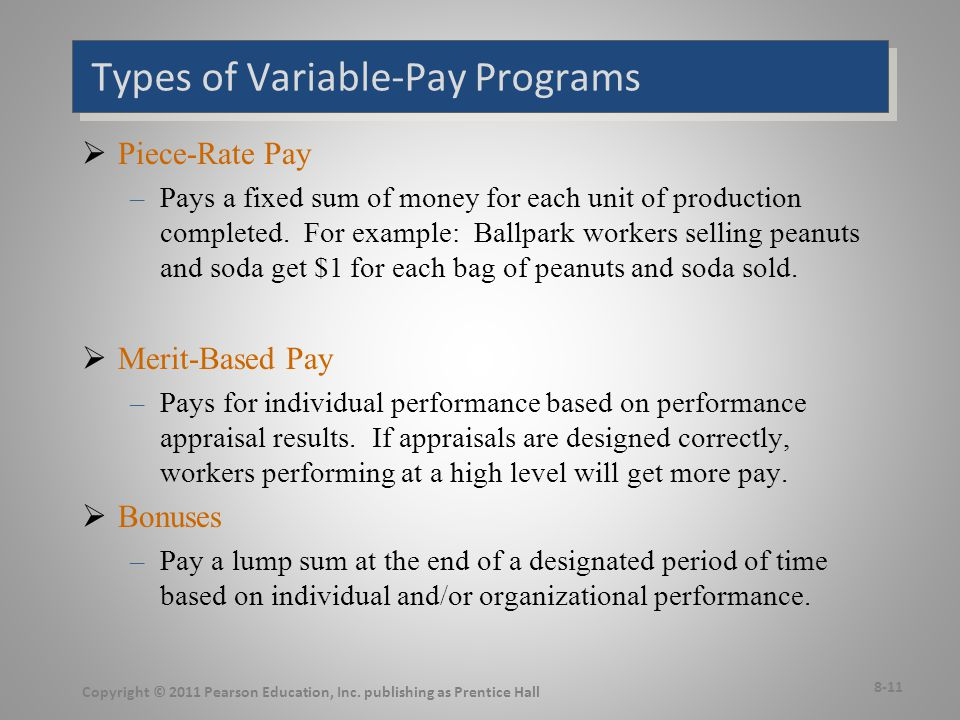 More Types of Variable-Pay Programs