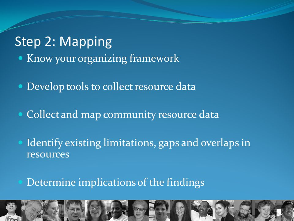 Step 2: Mapping Know your organizing framework