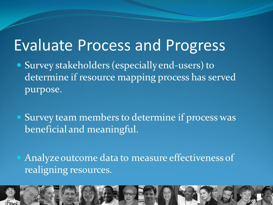 Evaluate Process and Progress