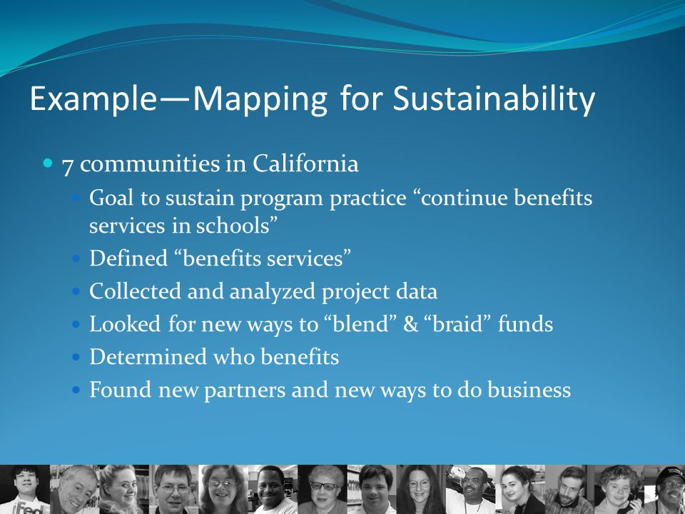 Example—Mapping for Sustainability
