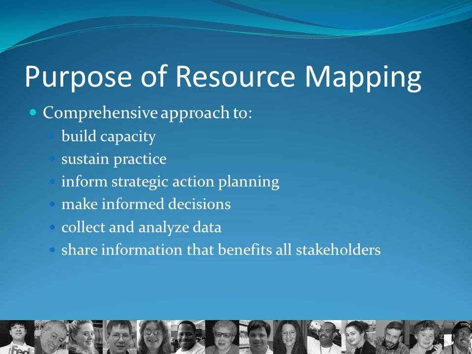 Purpose of Resource Mapping